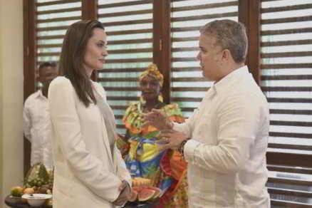 Angelina Jolie Visita a Colombia como enviada especial de Acnur