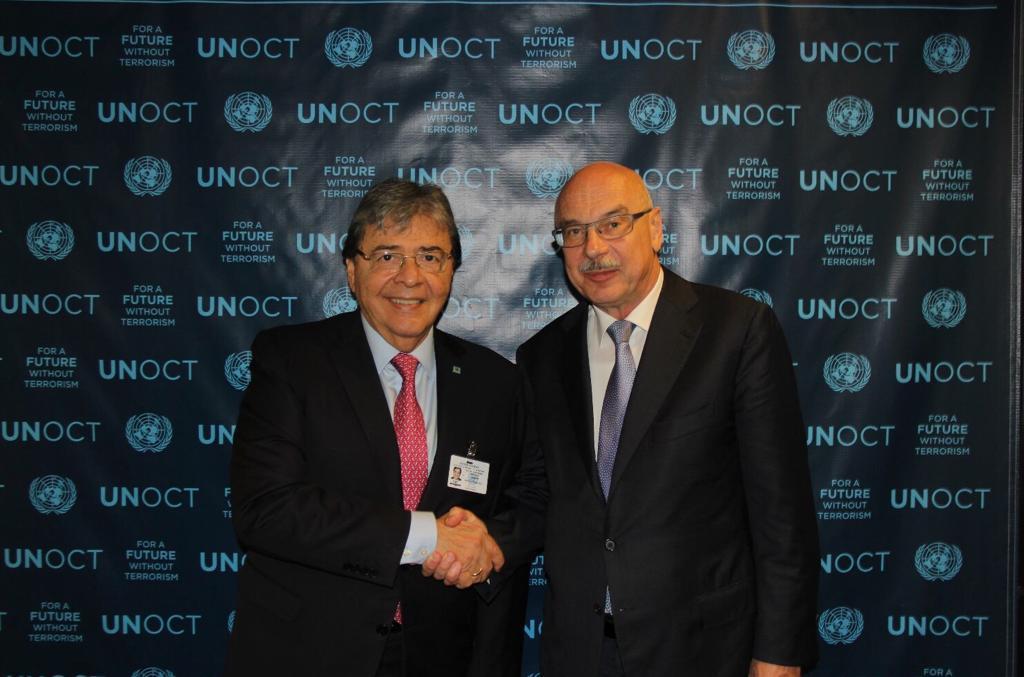 Ministro de Relaciones Exteriores, Holmes Trujillo, y Director de la Oficina de la ONU para la lucha contra el Terrorismo, Vladímir Voronkov, hablaron de cooperación en la lucha contra este flagelo