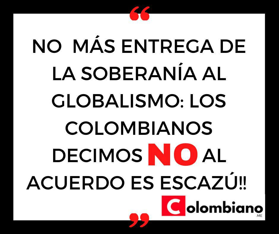 Formulario de rechazo al acuerdo Escazú Colombianos en el exterior