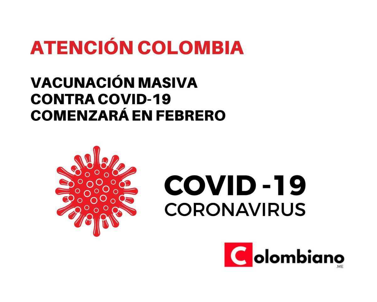 Vacunación masiva contra covid-19 comenzará en febrero: Duque