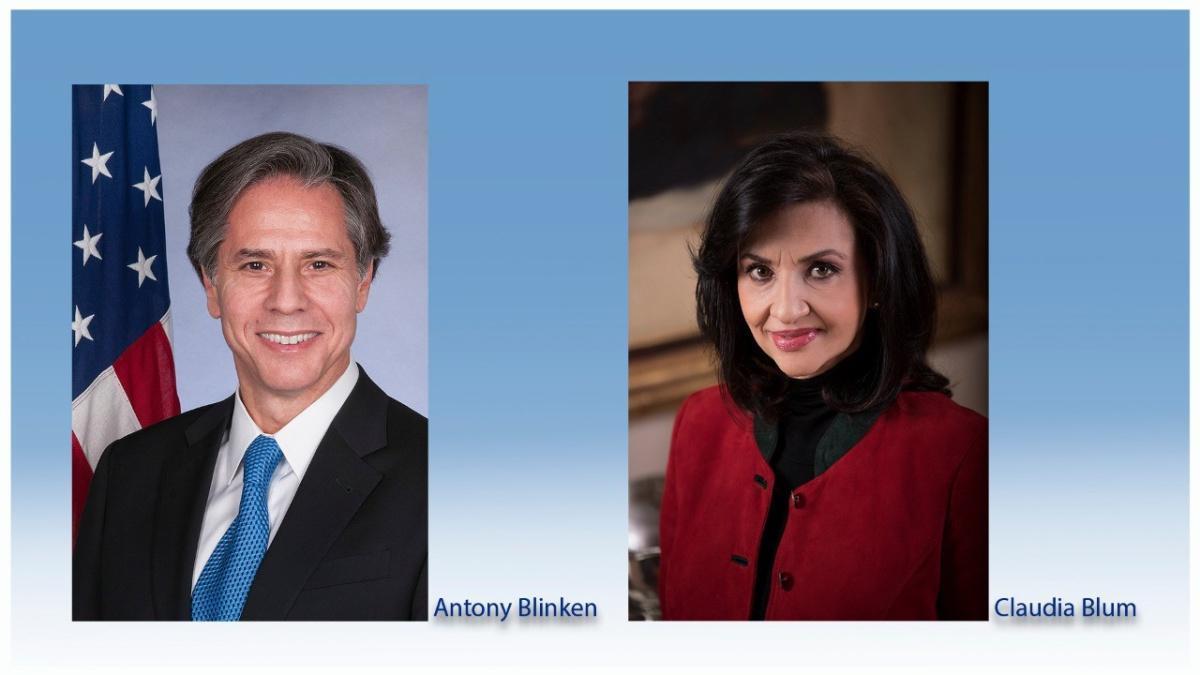 Canciller Claudia Blum conversó con el Secretario de Estado de Estados Unidos, Antony Blinken