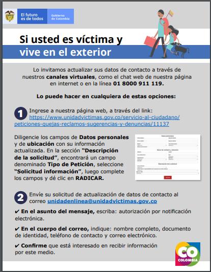 Informacion victimas exterior