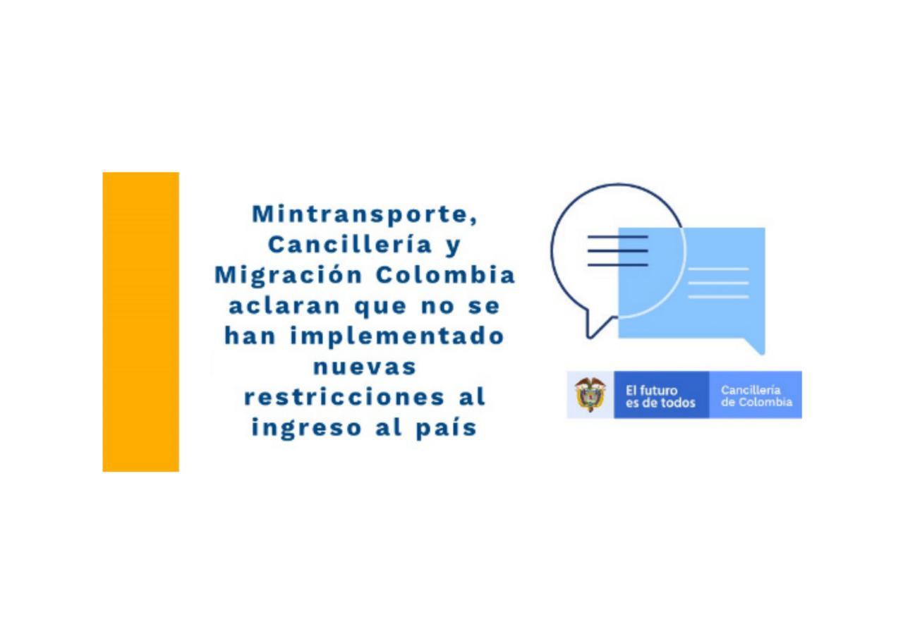 Información Cancillería y Mintransporte