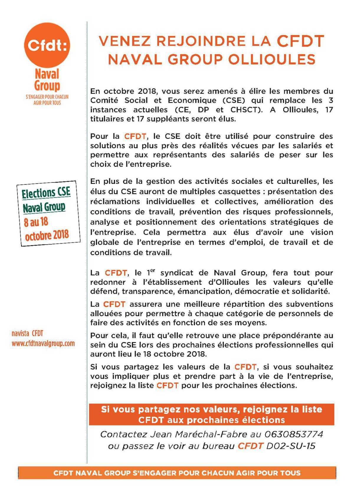 Venez rejoindre la CFDT - Le futur CSE… mode d'emploi