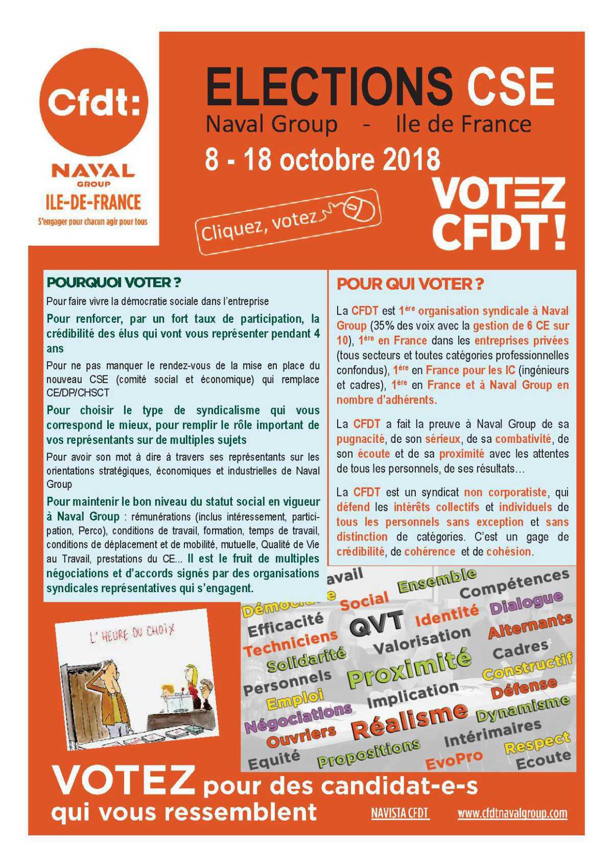 Les candidat-e-s CFDT en Ile-de-France