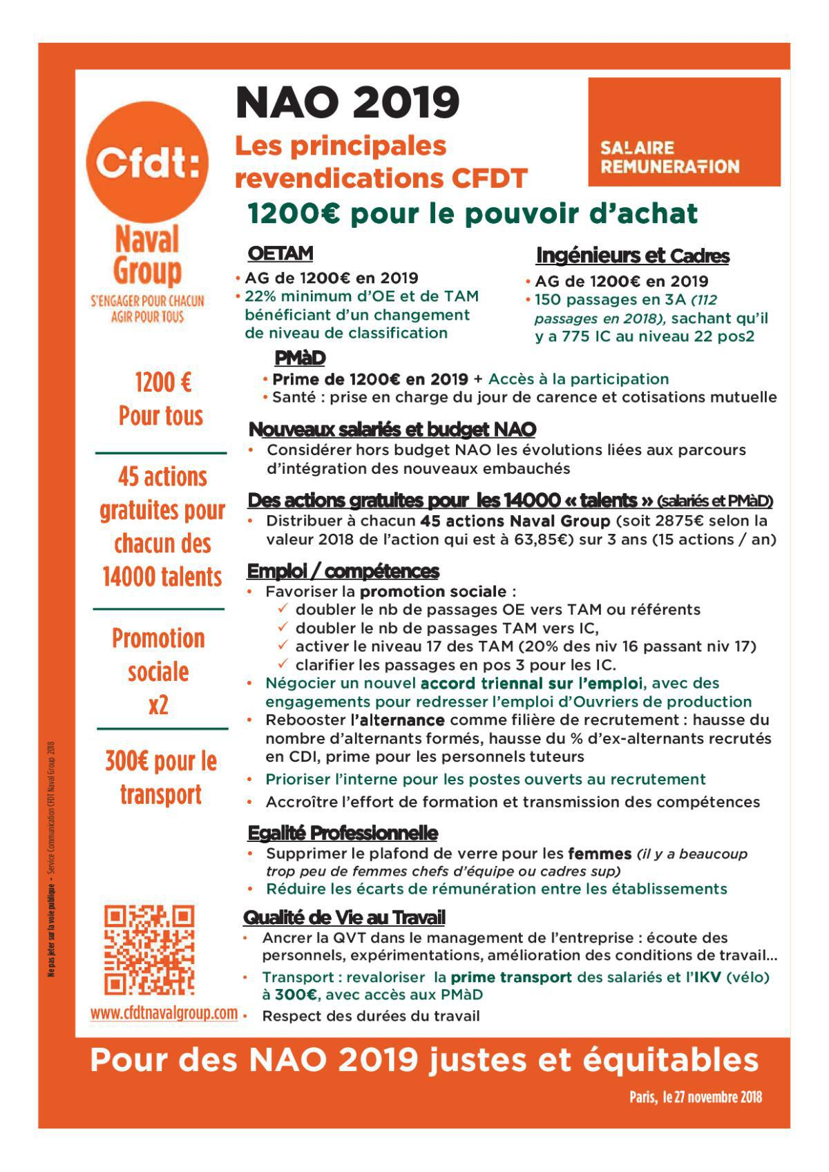 NAO 2019 : 1200€ pour le pouvoir d'achat