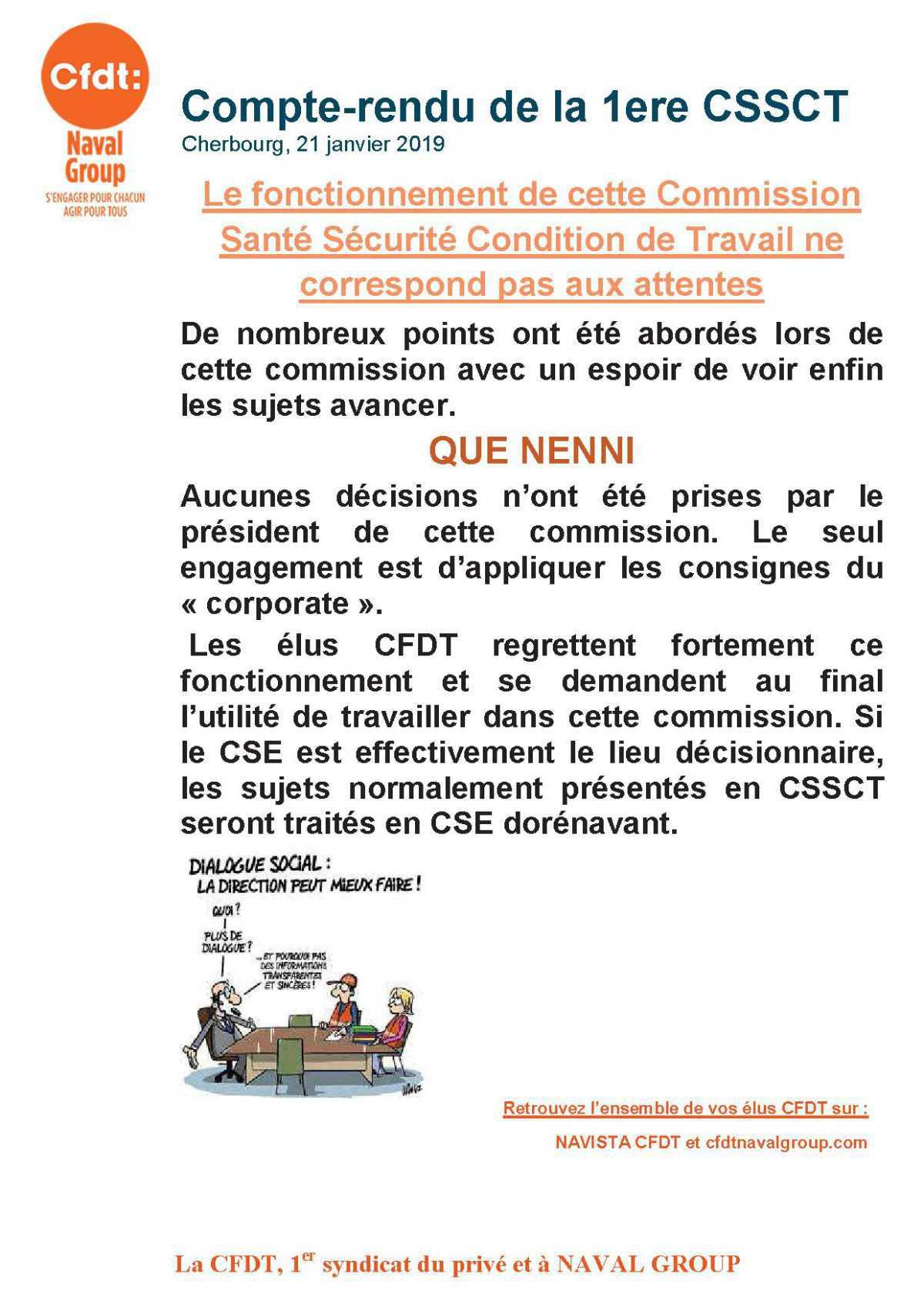 CR CSSCT du 17 janvier 2019