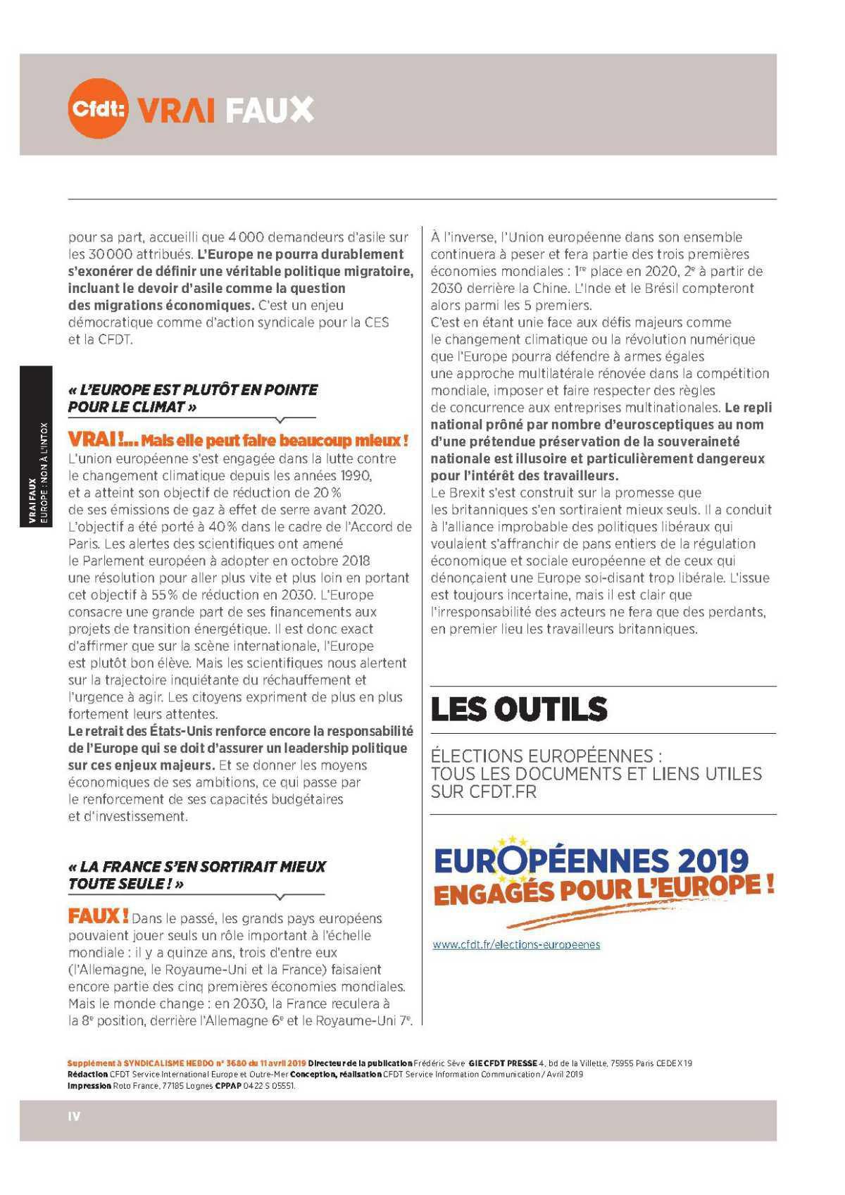 VRAI FAUX - EUROPE : NON À L'INTOX
