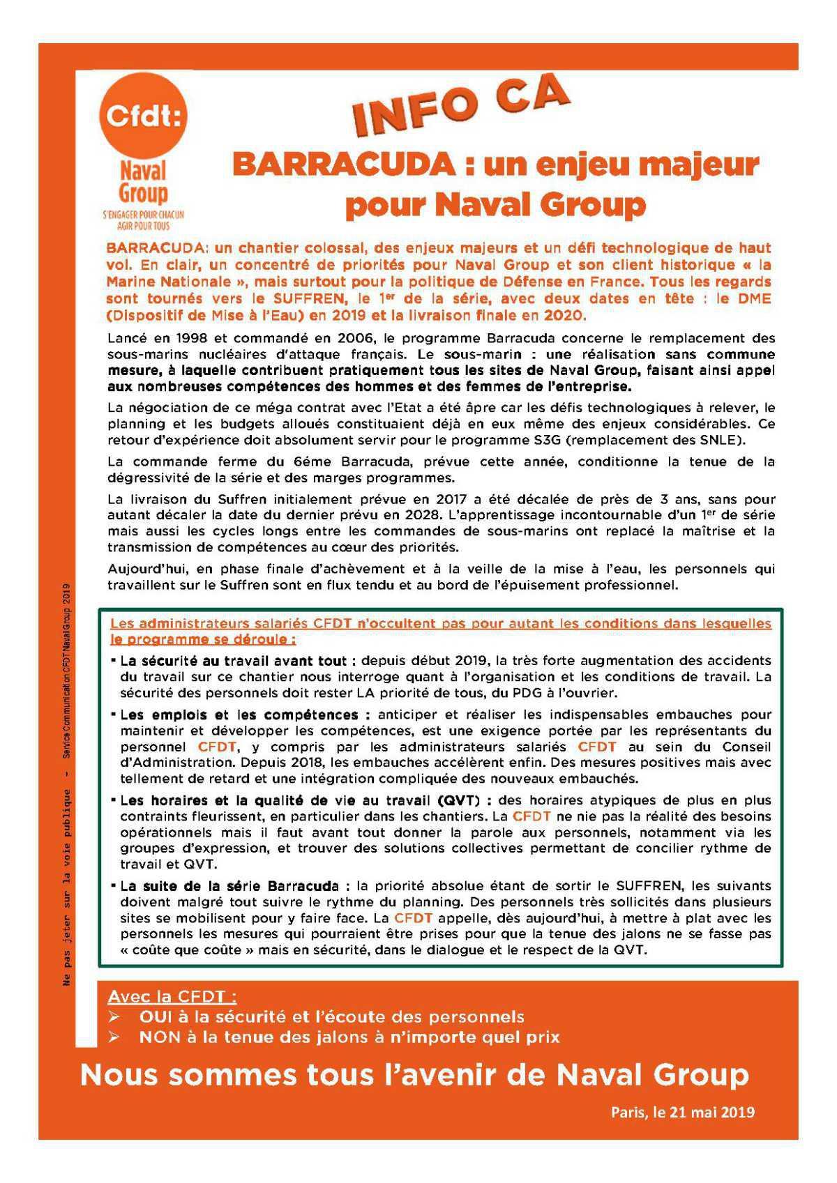 BARRACUDA : un enjeu majeur pour Naval Group