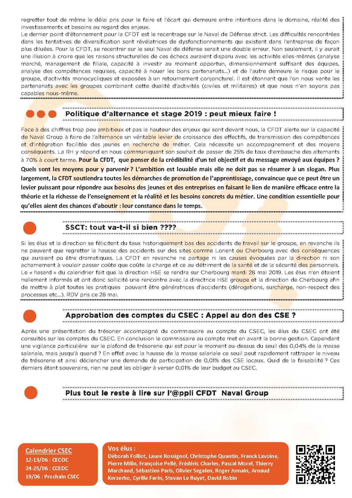 CR du CSEC du 21 mai : Un CSEC de consultations : bilan Social, orientations stratégiques…