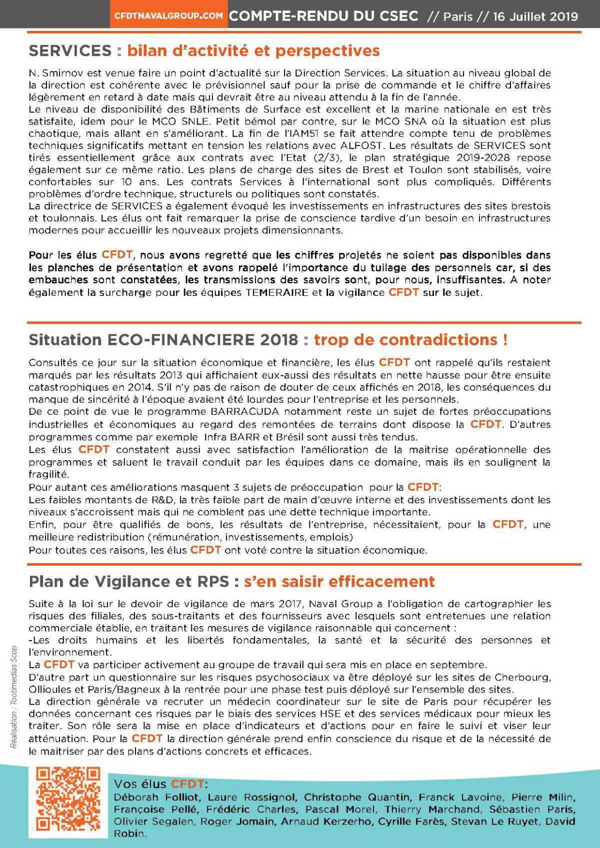 Un CSEC pour faire le lien entre compétitivité et SSCT