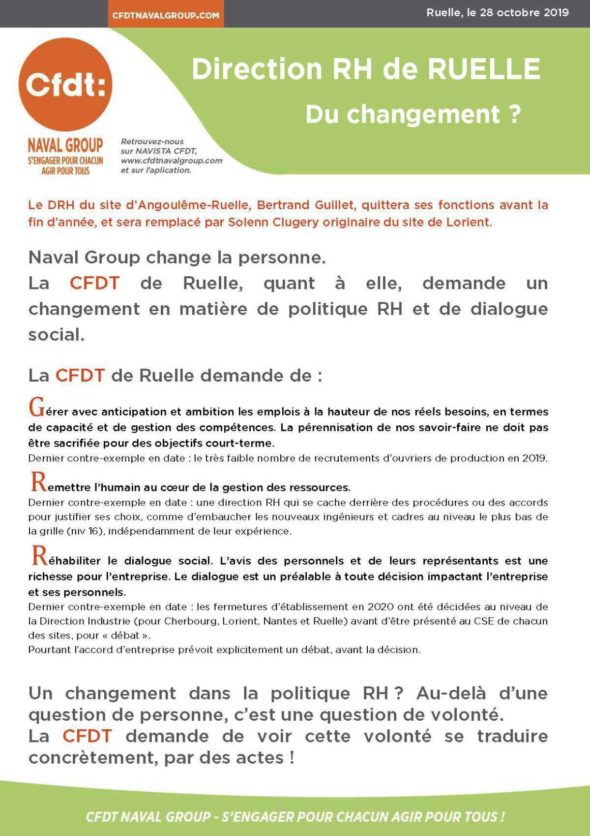 Direction RH de Ruelle