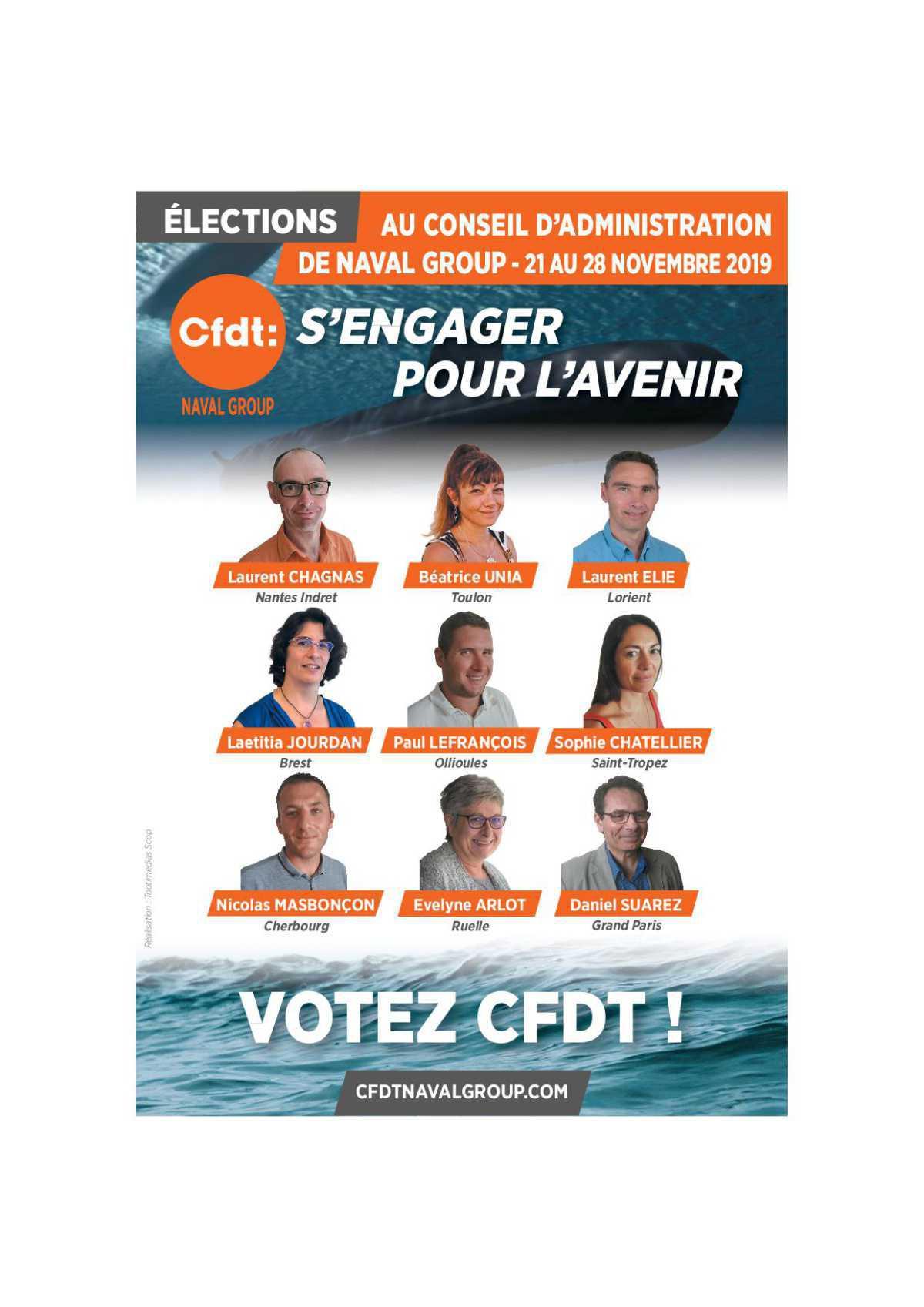 Du 21 au 28 novembre 2019 : VOTEZ CFDT