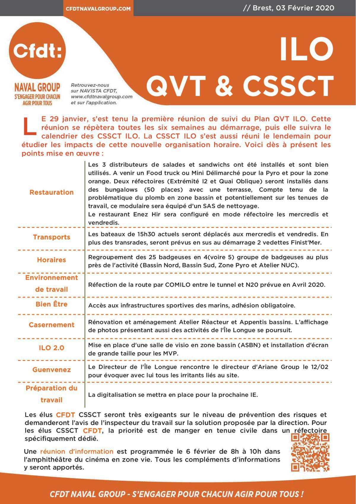 Flash Info ILO QVT & CSSCT