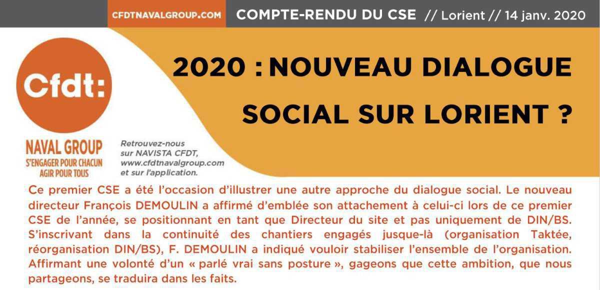 CR du CSE de Lorient de janv. 2020