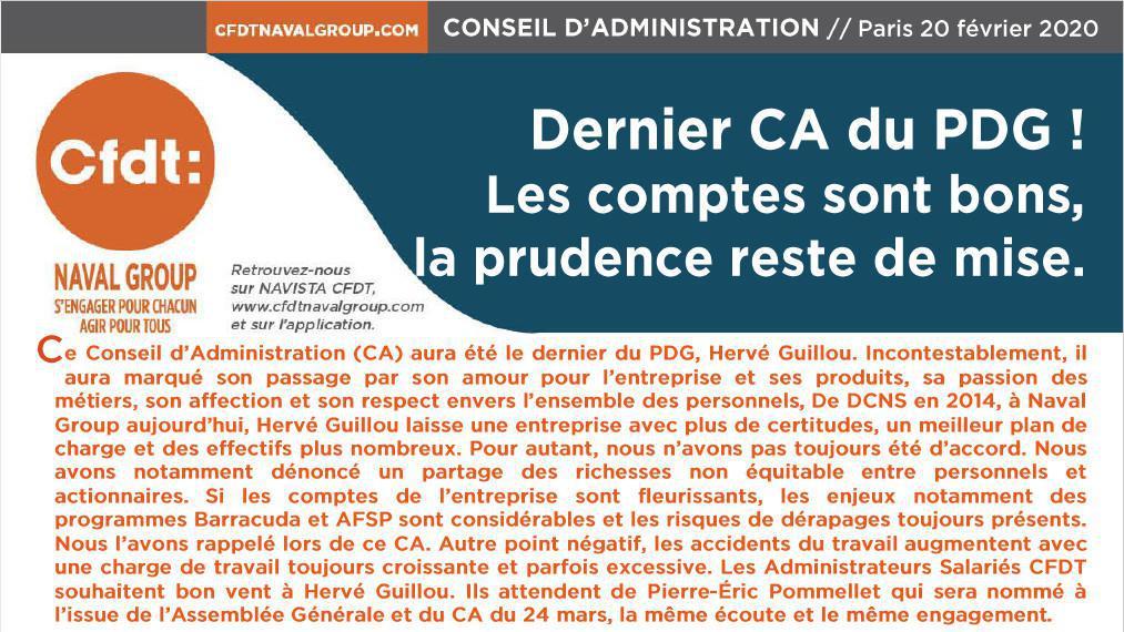 CR du Conseil d'Administration du 20 Février 2020