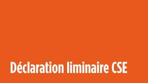 Déclaration CFDT au CSE du 23 mars