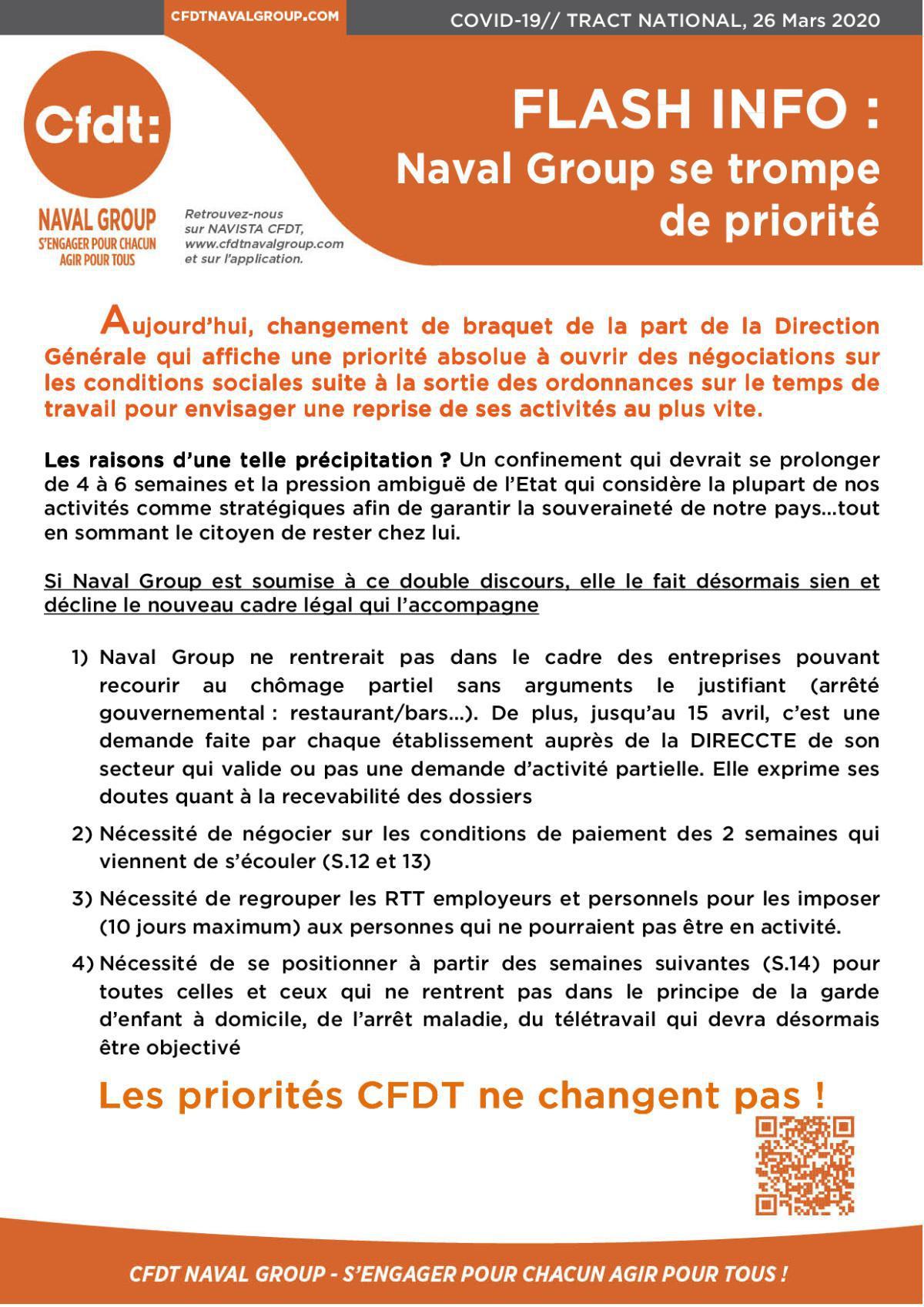 COVID 19 TRACT NATIONAL du 26 mars 2020