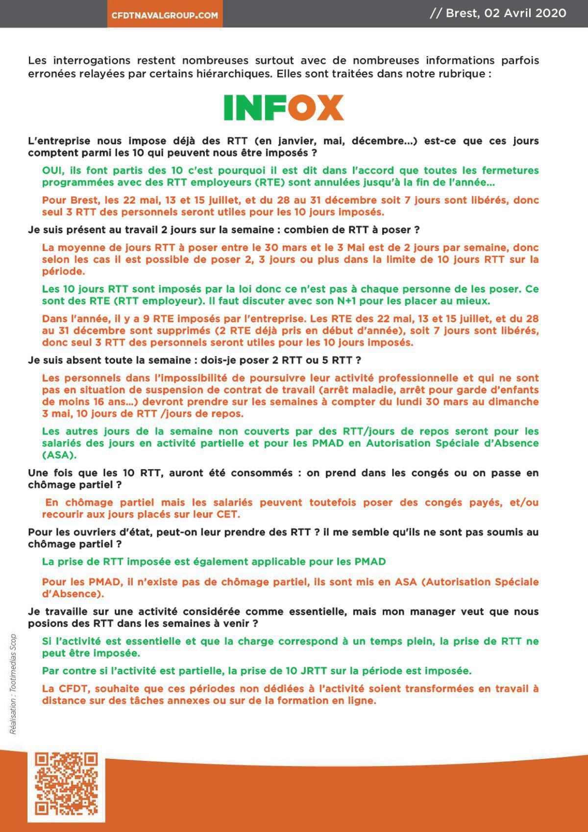 INFOS BREST DU 2 AVRIL 2020