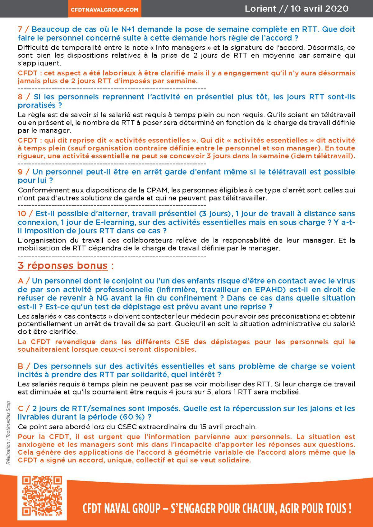 "Réponses aux questions Accord ""Confinement"" #1"