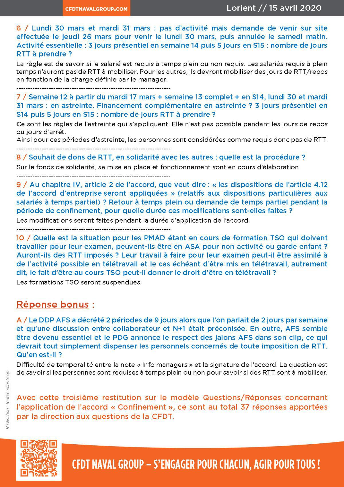 "Réponses aux questions Accord ""Confinement"" #3"