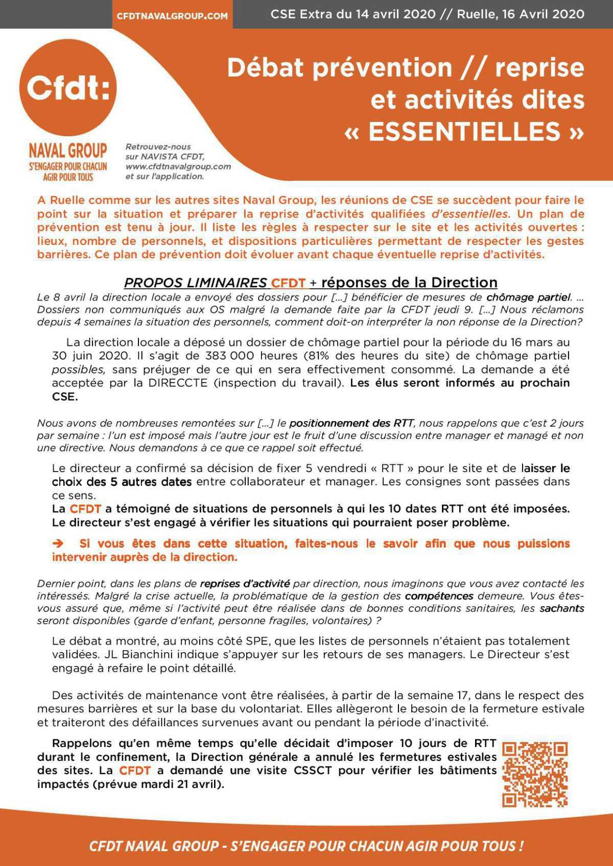 CR CSE extra de Ruelle du 14 avril 2020
