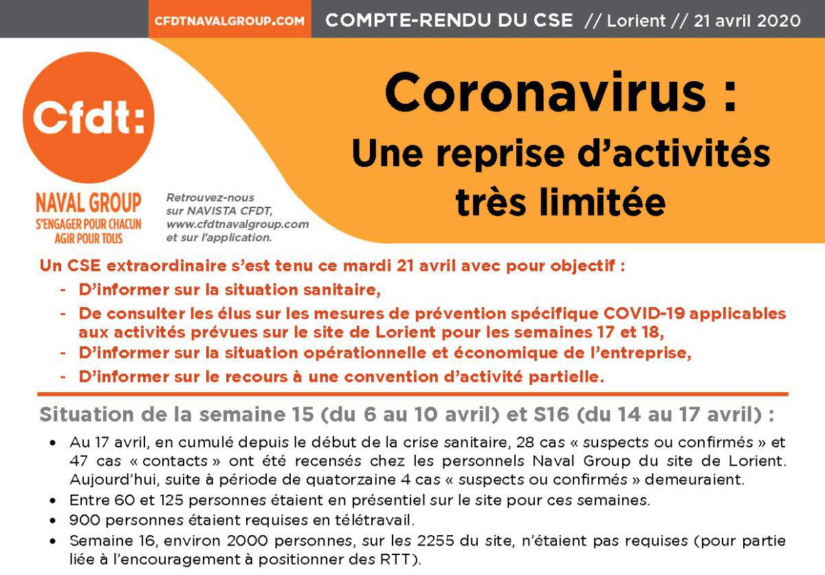 CR CSE Extra du 21 avril