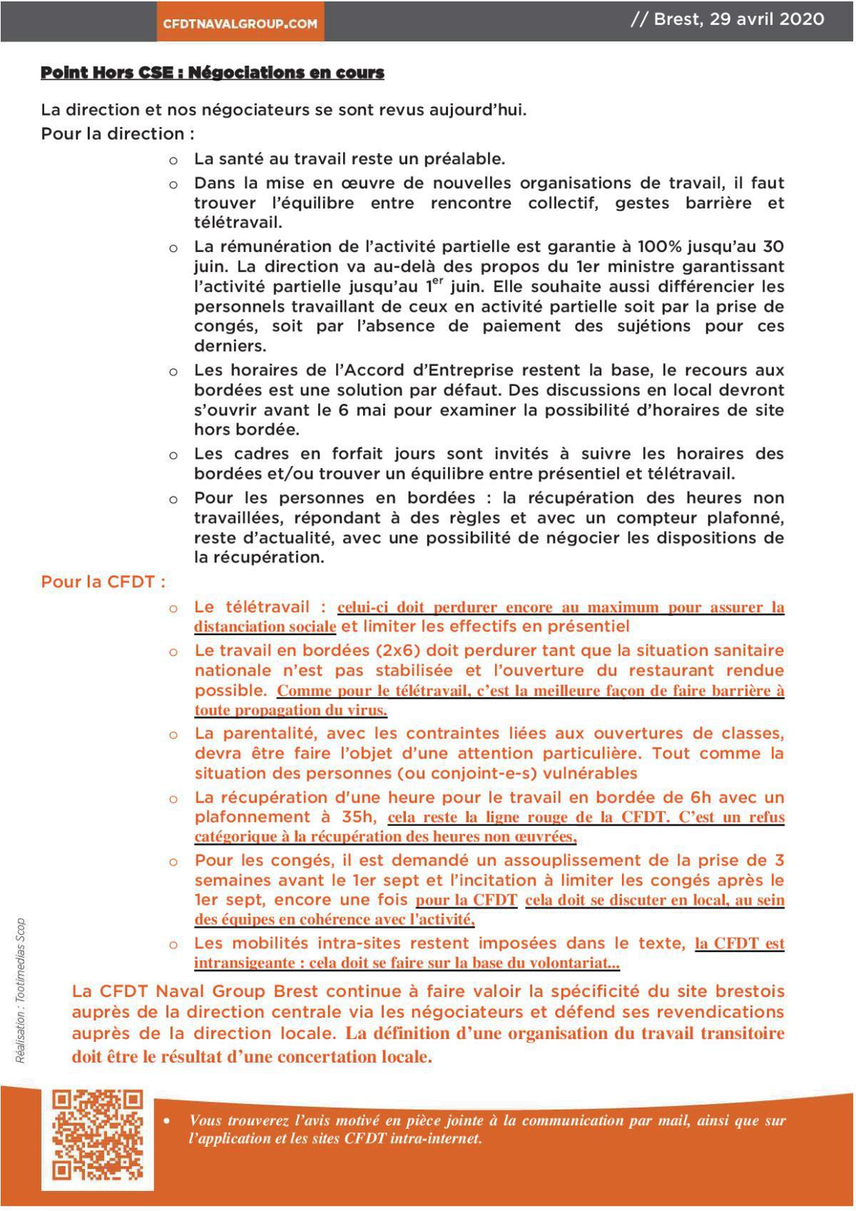 INFOS BREST du 29 Avril 2020