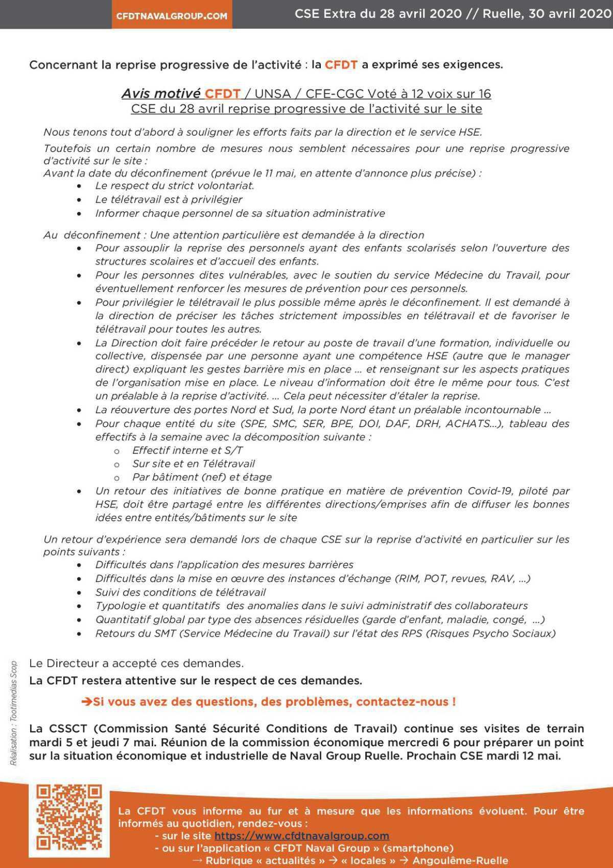 CR CSE extra de Ruelle du 28 avril 2020