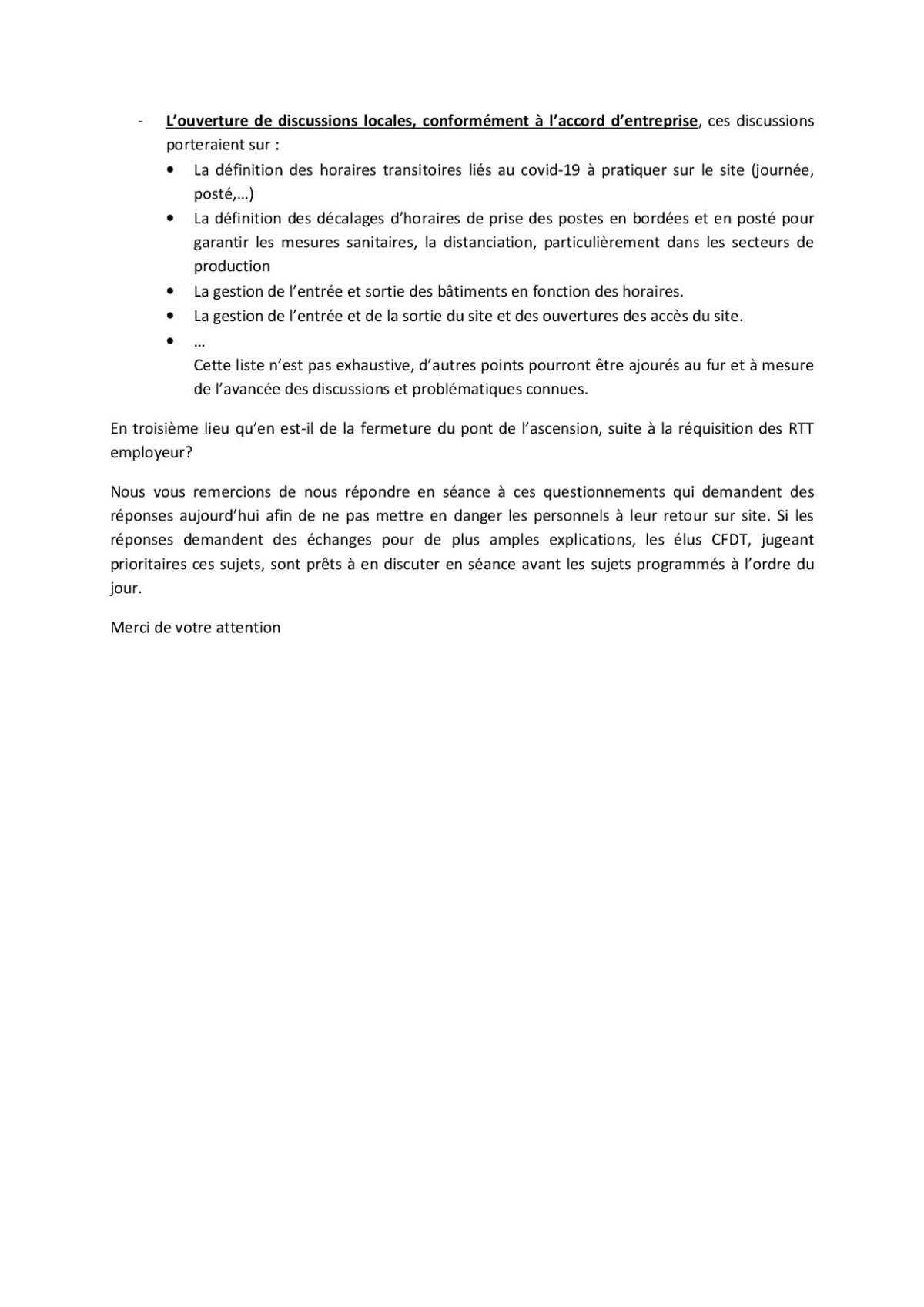 DL du CSE du 04 mai 2020