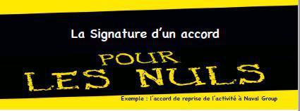 La signature d'un accord