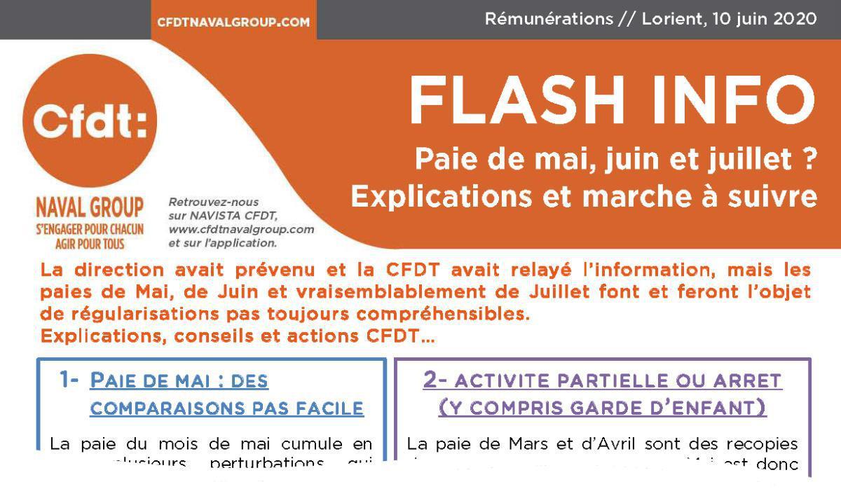 Flash info : régularisation des paies