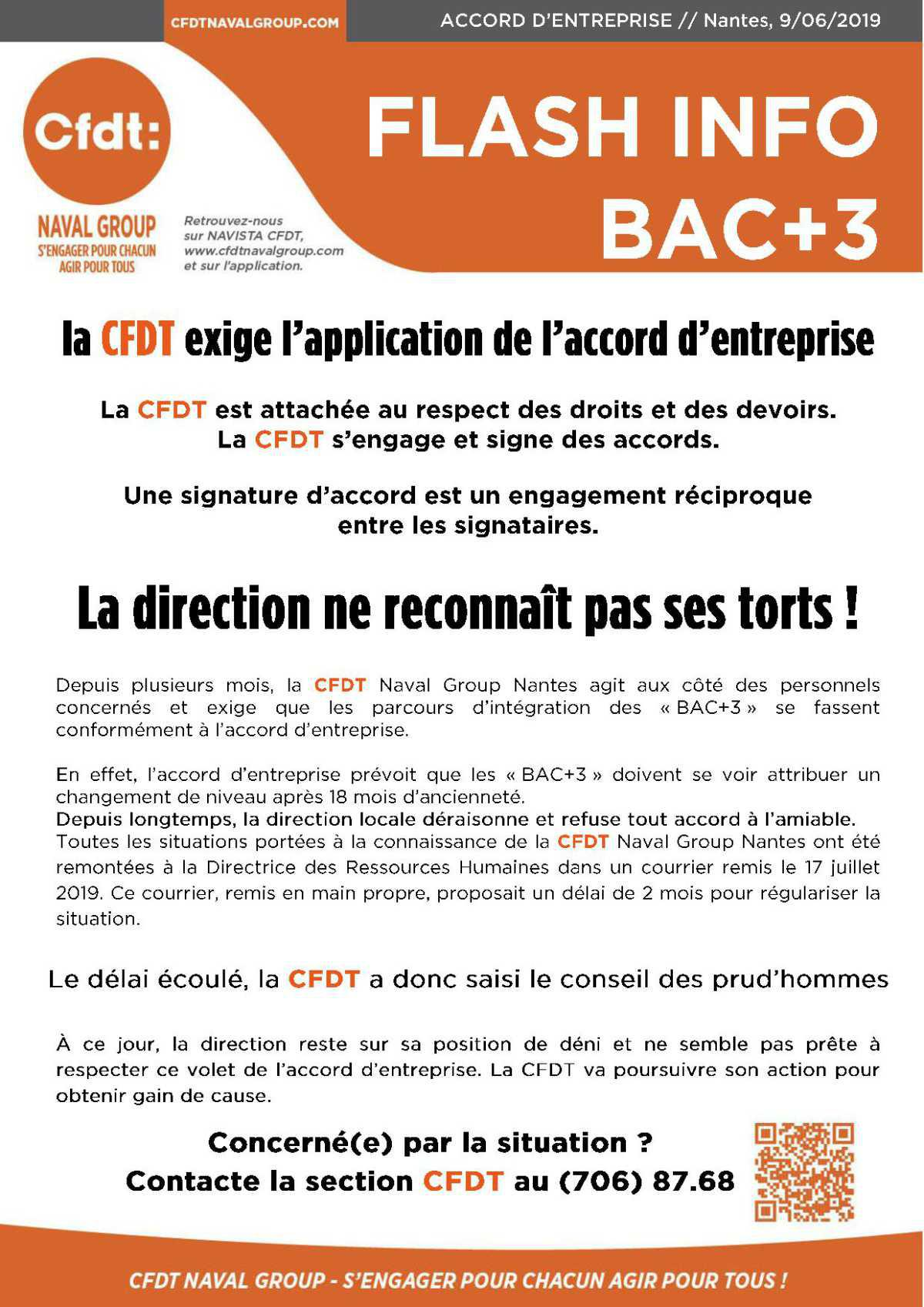 Flash info Bac +3