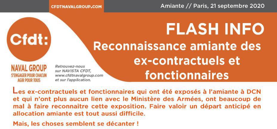 Amiante : Reconnaissance ex-contractuels et fonctionnaires