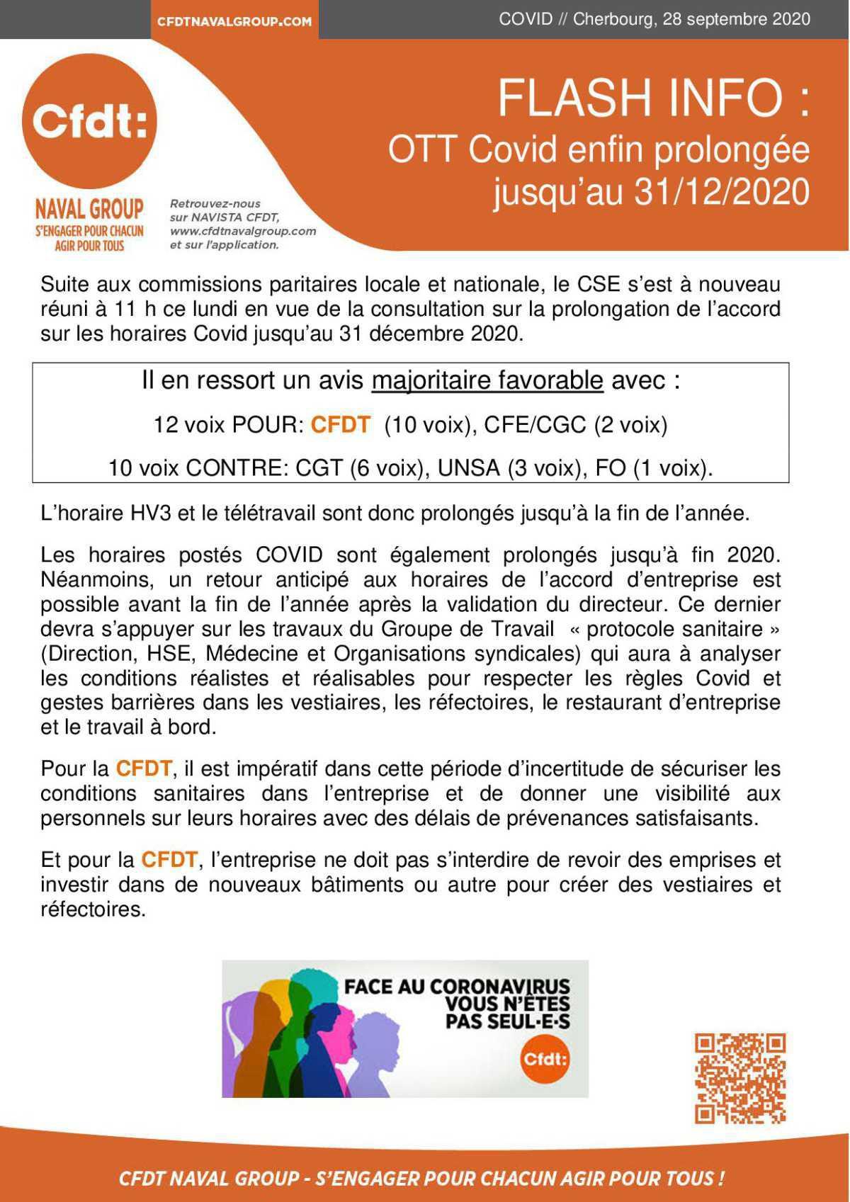 OTT Covid prolongation jusqu'au 31 décembre validée