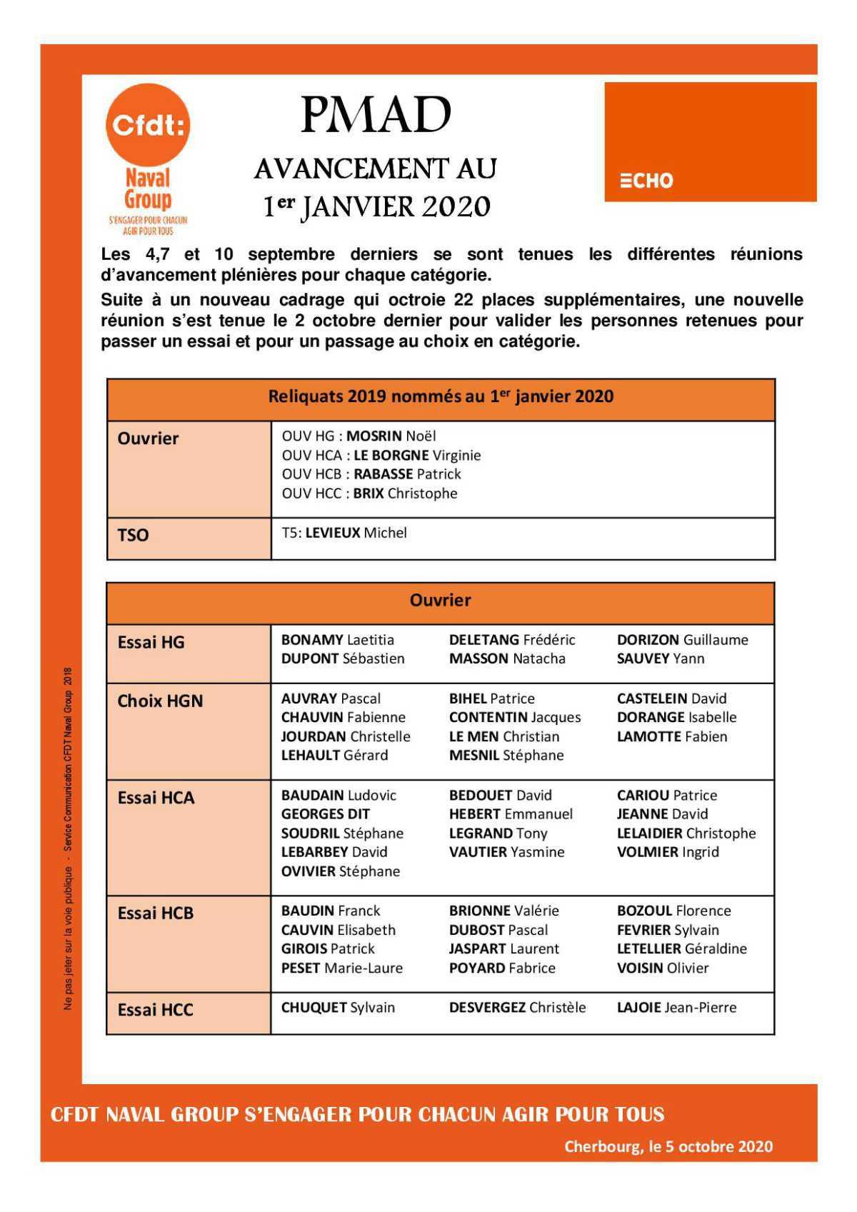ERRATUM - PMAD - AVANCEMENT 2020