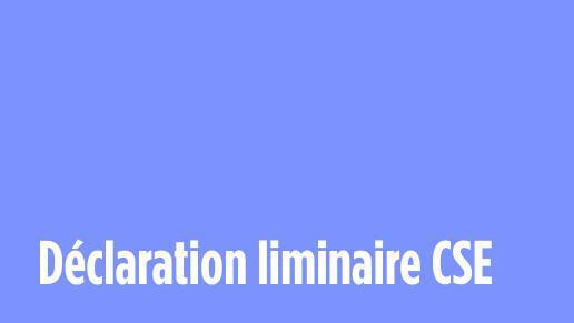Déclaration CFDT au CSE du 6 octobre