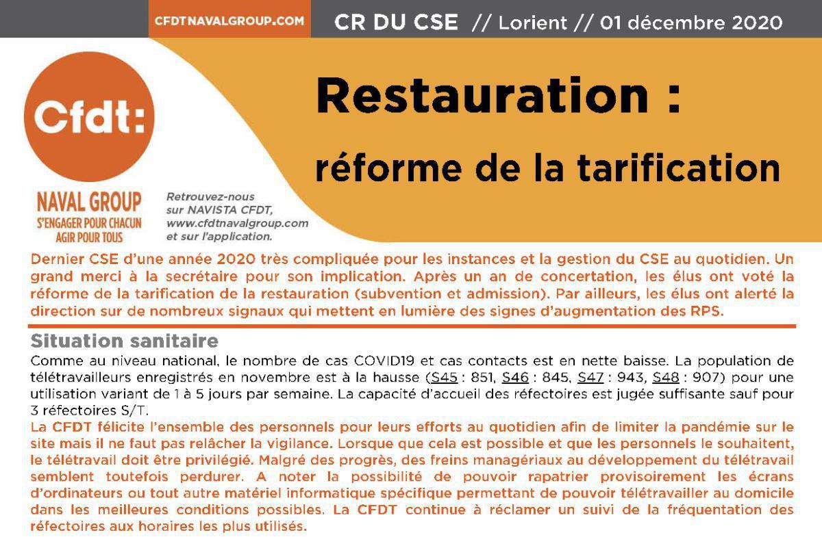 CR CSE du 1er décembre