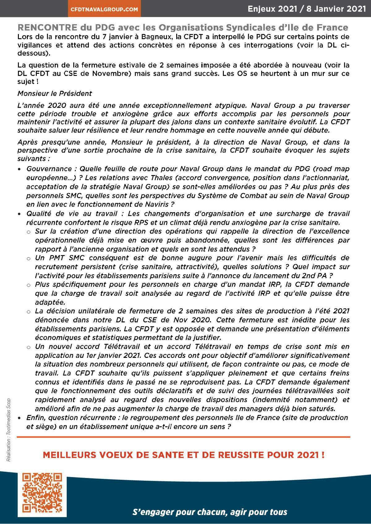 Les enjeux 2021 _ La CFDT engagée sur la négociation QVT