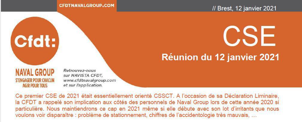 CSE du 12 Janvier 2021