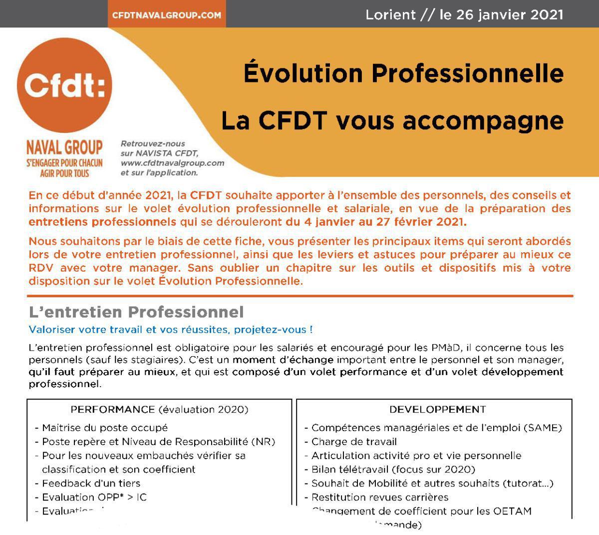Guide CFDT à l'évolution professionnelle