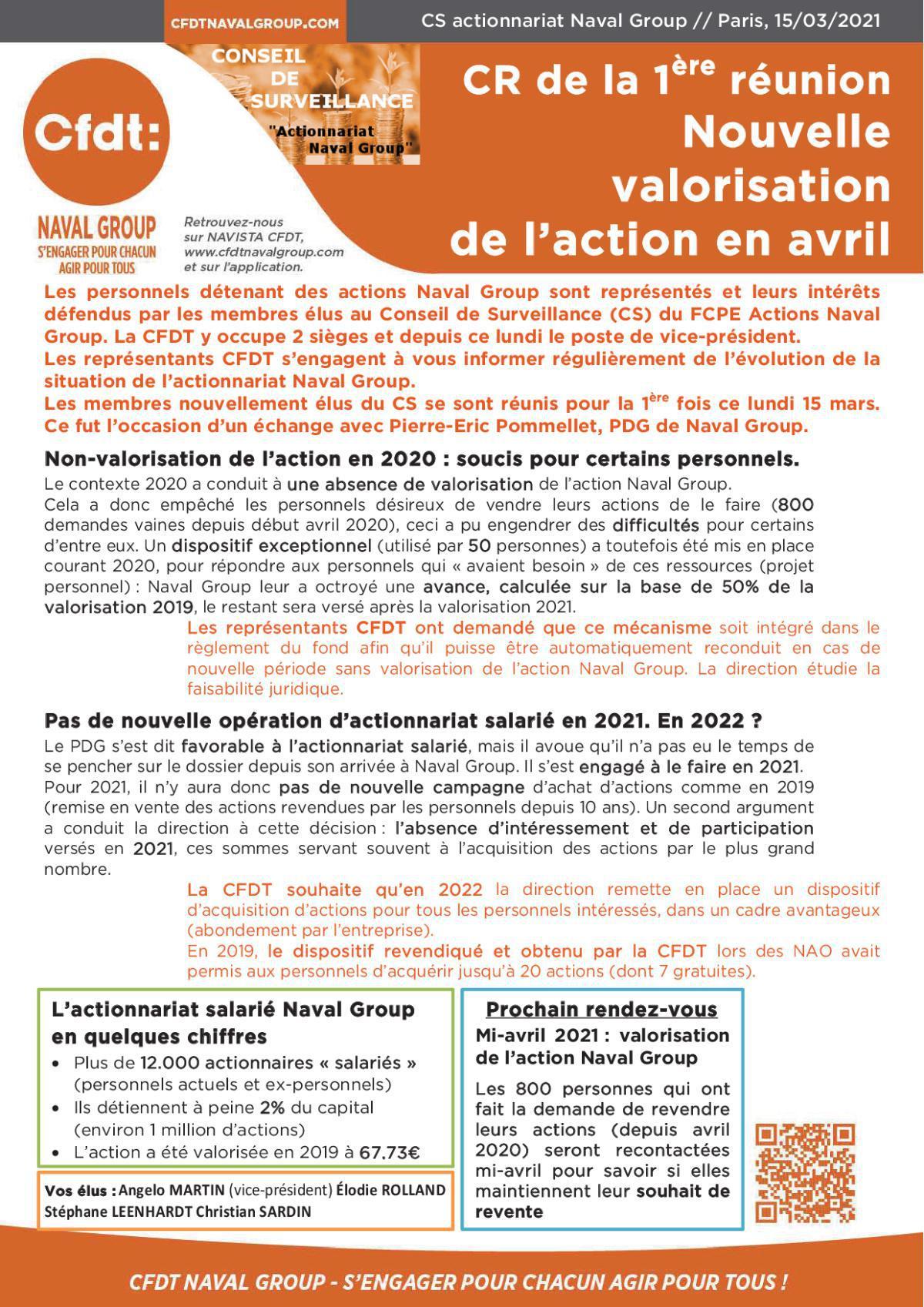 """CR Conseil de surveillance """"Actions Naval Group"""""""