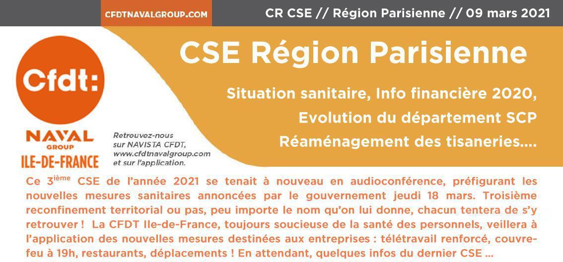 CSE RP - CR CFDT CSE du 9 mars 2021