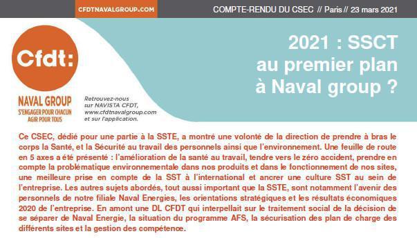CR CSEC du 17 et 18 mars 2021