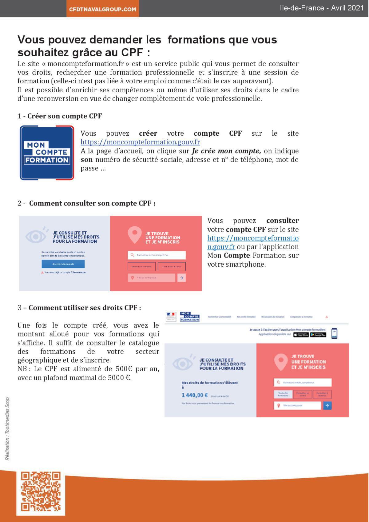 Flash Info DIF/CPF