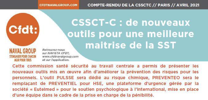 CR CSSCTC du 8 avril 2021