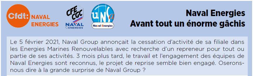 Naval Energies : Un énorme gâchis