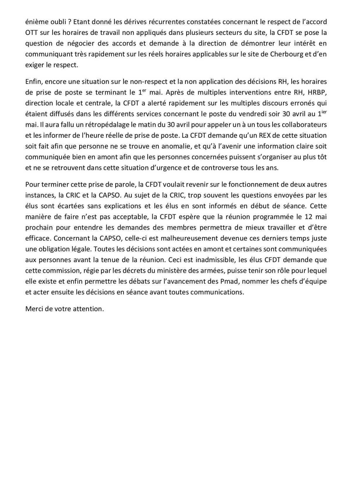 CR du CSE du 11 Mai 2021