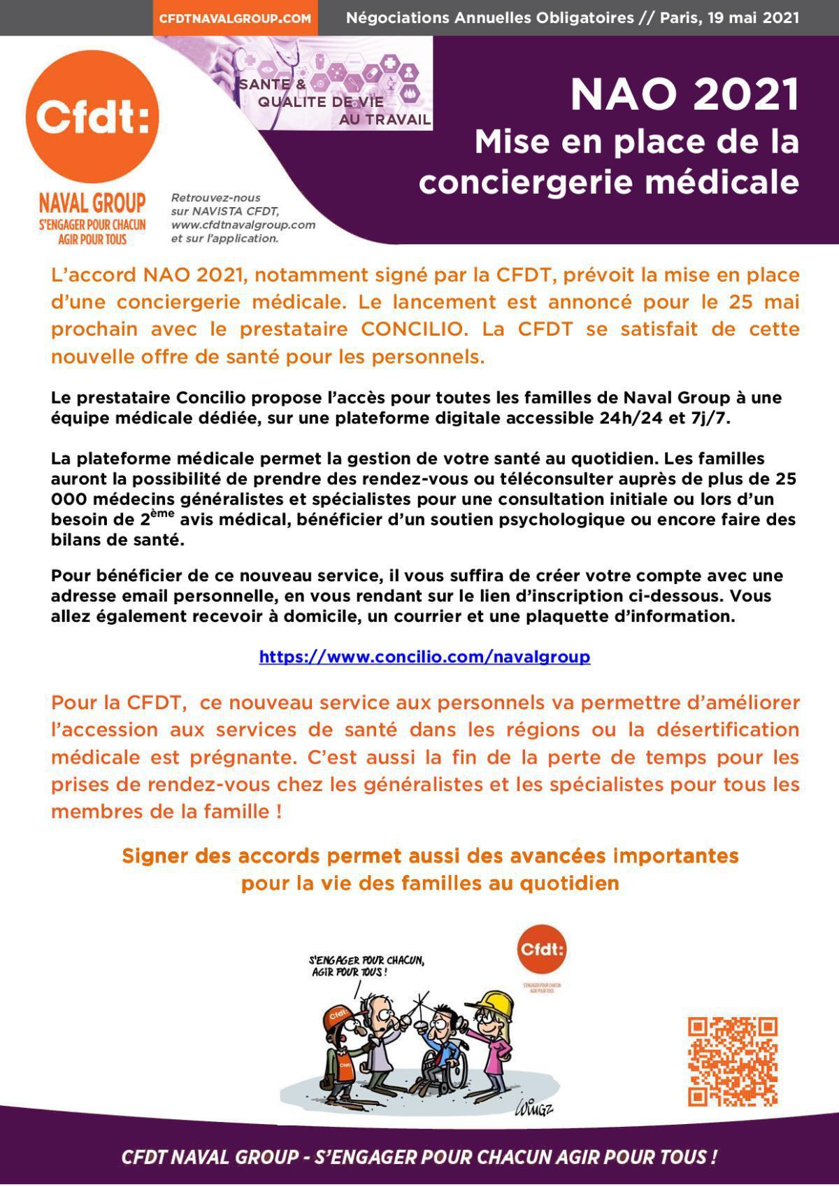 NAO 2021 : Conciergerie médicale