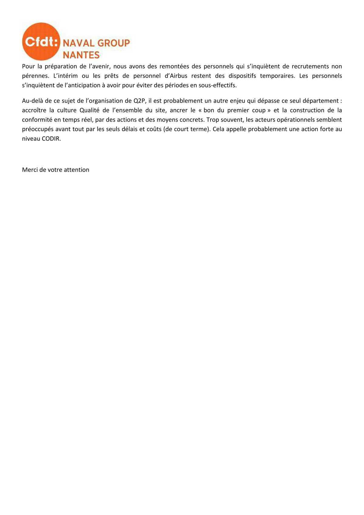 CR du CSE Avril 2021